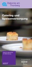 Catering und Speisenversorgung - Diakonie am Thonberg