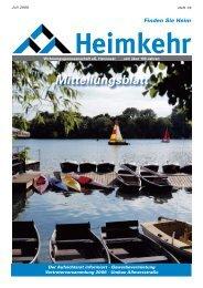 Mitteilungsblatt - Heimkehr-Hannover.de