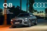 Audi Q8 Verkaufsunterlagen