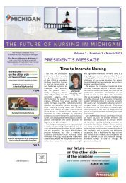 Future of Nursing in Michigan - March 2021