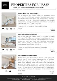 Tower & London - Properties For Lease Feb