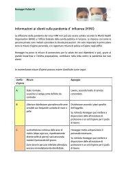 Informazioni ai clienti sulla pandemia d' influenza (H1N1)