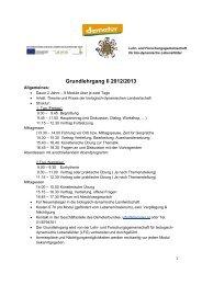 Grundlehrgang II 2012/2013 - Demeter