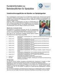 Verkehrssicherungspflichten der Betreiber von ... - TÜV Süd
