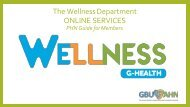 The Wellness Department Guide for PHNS 2020
