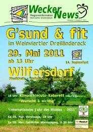 Wecker News Ausgabe 2/2011 (3,27 MB - Hauskirchen