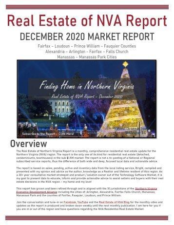2020-12 -- Real Estate of Northern Virginia Market Report - December 2020 Real Estate Trends - Michele Hudnall
