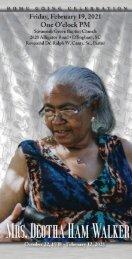 Deotha Walker Memorial Program