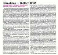 Exhibition Catalogue: Directions - Cutlery 1992