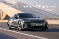 Audi e-tron GT Verkaufsunterlagen