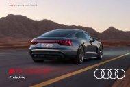 Audi RS e-tron GT Verkaufsunterlagen