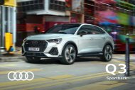 Audi Q3 Sportback Verkaufsunterlagen