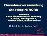 Stadtteilentwicklung - Stadt Zwickau