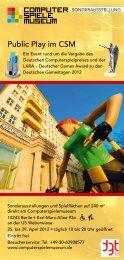 Public Play im CSM - Deutsche Gamestage