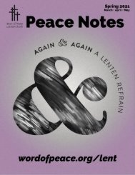 Peace Notes Spring 2021 - Word of Peace Lutheran Church
