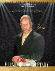 Vernon Singletary Memorial Program