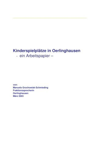 Kinderspielplätze in Oerlinghausen