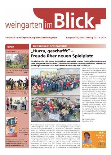 """""""Hurra, geschafft"""" – Freude über neuen Spielplatz - Weingarten im ..."""