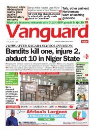 19022021 - Bandits kill one, injure 2, abduct 10 in Niger State