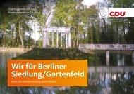 Berliner Siedlung/ Gartenfeld Kommunalwahl 2021