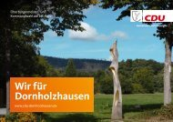 Dornholzhausen Kommunalwahl 2021