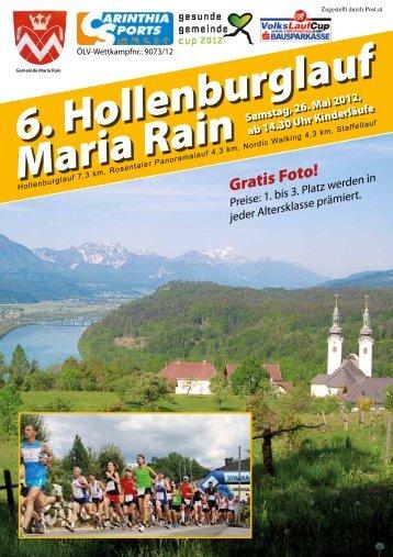 Anmeldung zum 6. Maria Rainer ... - Carinthia Sports