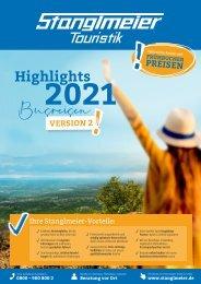 Stanglmeier Busreisen Highlights 2021