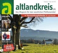 altlandkreis - Das Magazin für den westlichen Pfaffenwinkel - Ausgabe März/April 2021