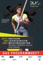 Das Programm zu den 68. Deutschen Leichtathletik-Hallenmeisterschaften in Dortmund