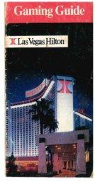 Las Vegas Hilton's Gaming Guide (1987)