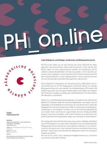 """Mit """"PH_on.line"""" - Pädagogische Hochschule Kärnten"""
