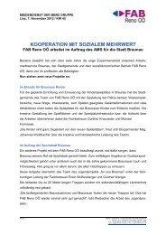 Kooperationen mit sozialem Mehrwert - FAB