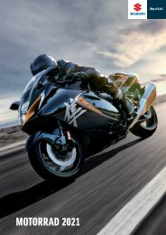 Suzuki Motorrad Katalog 2021