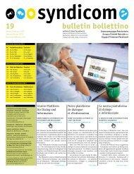 syndicom Bulletin / bulletin / Bollettino 19