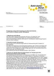 Protokoll der Vollversammlung April 2012 - Behindertenbeirat ...