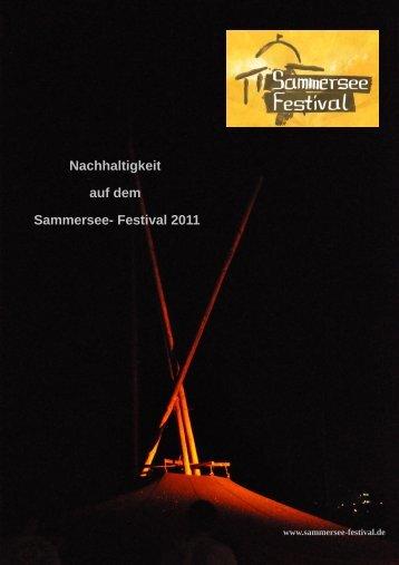 Nachhaltigkeit auf dem Sammersee- Festival 2011