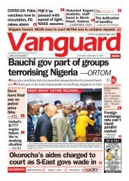 23022021 - Bauchi gov part of groups terrorising Nigeria —ORTOM