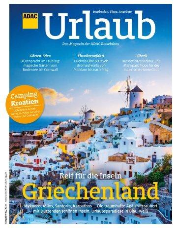 ADAC Urlaub Magazin, März-Ausgabe 2021, Württemberg