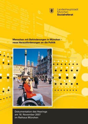 Dokumentation des Hearings 2007 - Behindertenbeirat München