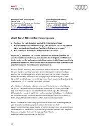 Audi baut Kinderbetreuung aus - Audi MediaServices