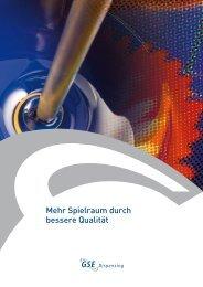 Mehr Spielraum durch bessere Qualität - GSE Dispensing