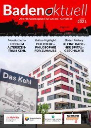 Baden aktuell Magazin März 2021