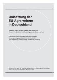 Umsetzung der EU-Agrarreform in Deutschland (380 - Die bessere ...