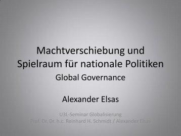 Machtverschiebung und Spielraum für nationale Politiken