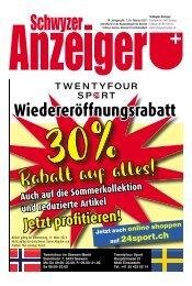 Schwyzer Anzeiger – Woche 8 – 26. Februar 2021