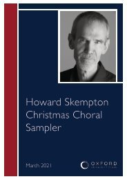 Howard Skempton Christmas choral sampler