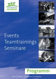 Hirschen - Events Teamtrainings Seminare