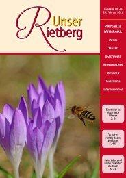 Unser Rietberg Ausgabe 23 vom 24. Februar 2021
