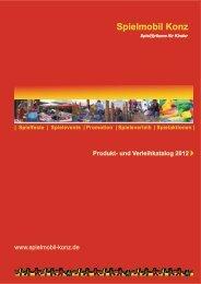 Produkt- und Verleihkatalog 2012 - Jugendnetzwerk Konz