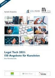 Legal Tech 2021 – 150 Angebote für Kanzleien